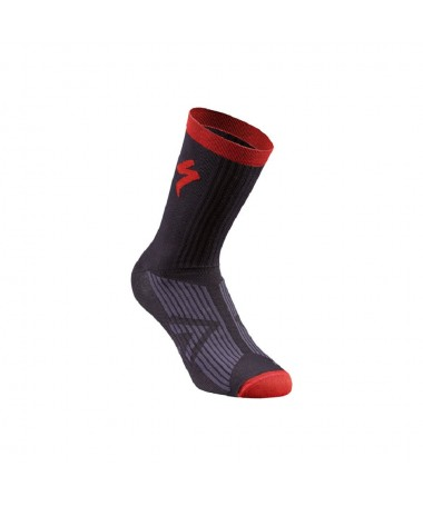 SL ELITE SUMMER SOCK BLK/RED S