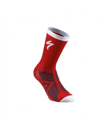 SL ELITE SUMMER SOCK RED/WHT L