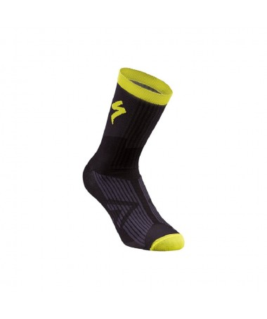 SL ELITE SUMMER SOCK BLK/NEON YEL L