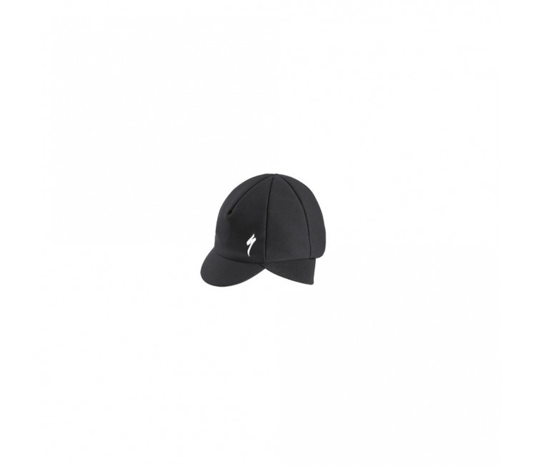 WINTER CAP WITH VISOR BLK OSFA
