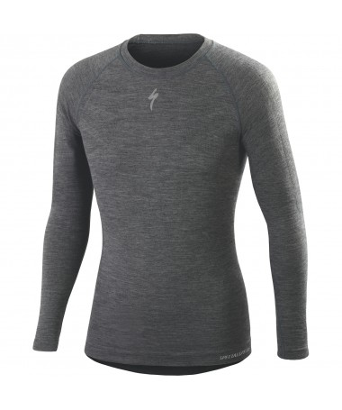 MAILLOT MANCHES LONGUES SPECIALIZED MERINO LS GRIS