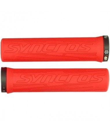 SYN GRIPS PRO  LOCK-ON RALLY RED 1SIZE