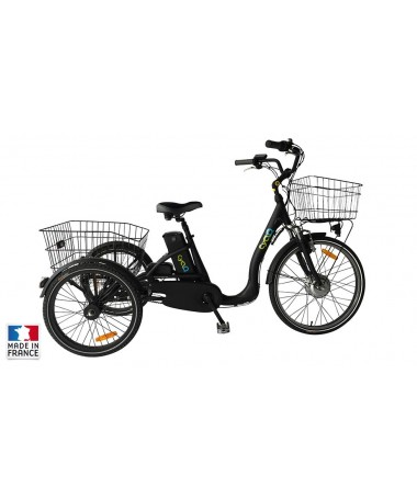 TRICYCLE ADULTE CYCLO² COMFORT 24 NOIR 36V/10AH